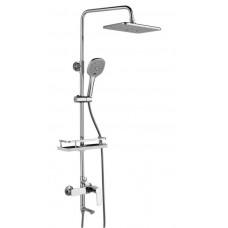 """Смеситель для ванны и душа c верхней душевой лейкой """"Тропический дождь"""" Rossinka RS27-46"""