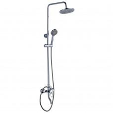 Смеситель для ванны и душа верхней душевой лейкой «Тропический дождь» Rossinka  B35-46