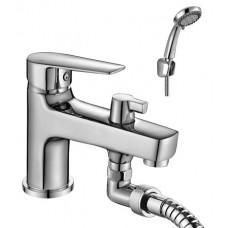 Смеситель на борт ванны с монолитным изливом S35-38
