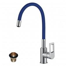 Смеситель для кухни c гибким цветным изливом Z35-35U-Blue