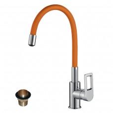 Смеситель для кухни c гибким цветным изливом Z35-35U-Orange